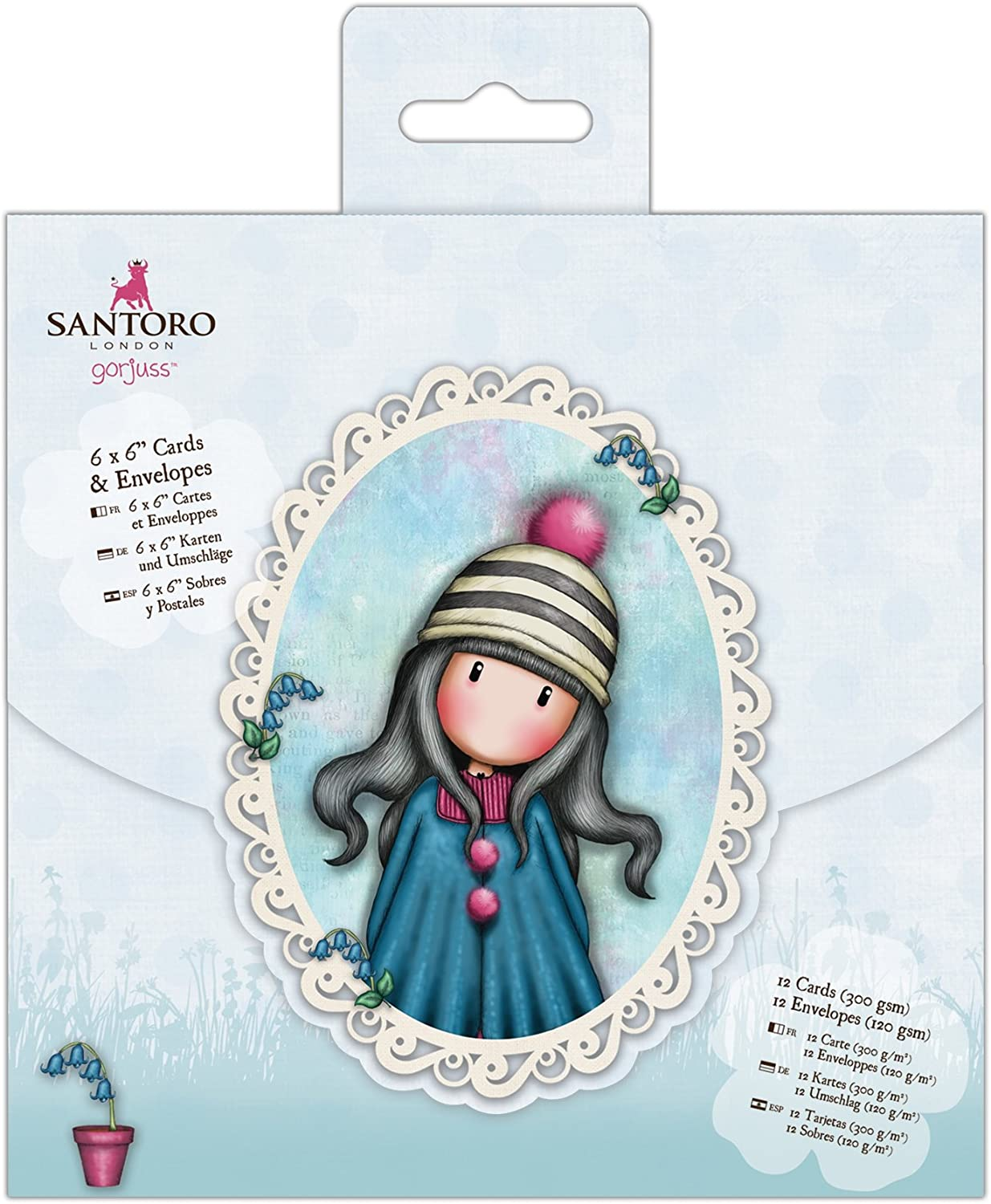 """PACK 12 SANTORO SAMPLE PAPERS  FOR CARDS AND CRAFTS 12 X 6/"""" X 6/"""""""