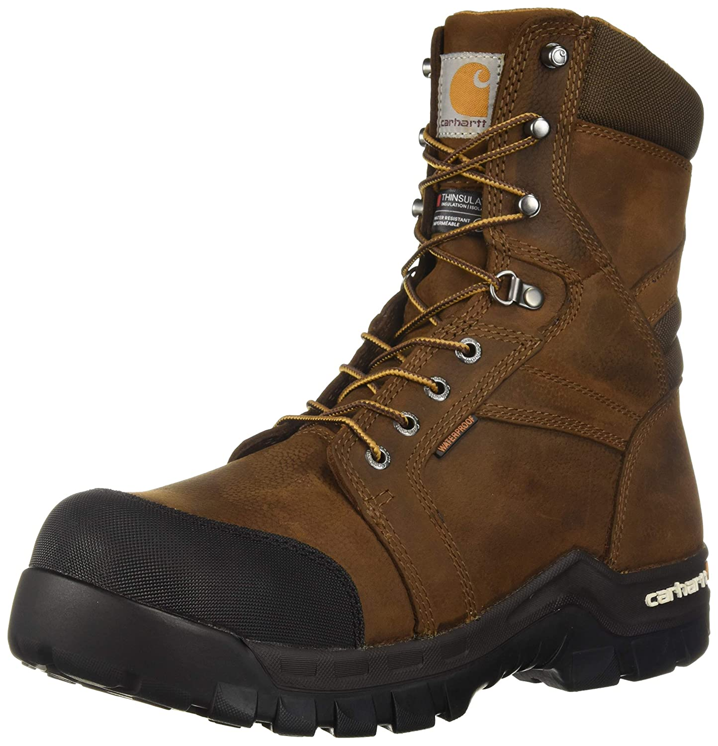 44a5d520f4c Carhartt Men's CSA 8-inch Rugged Flex Wtrprf Insulated Work Boot Comp  Safety Toe Cmr8939 Industrial