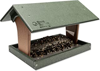product image for Hopper Poly Bird Feeder (Turf Green & Cedar, Mount Style - Hanging)