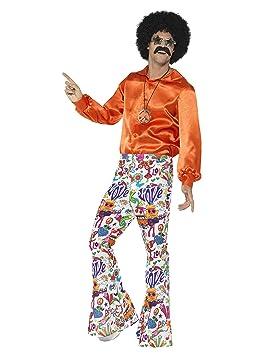 657883c29 Smiffy's Smiffys-44907L Pantalones Acampanados Buena Onda años 60, para  Hombre, L - Tamaño 42