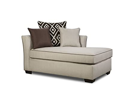 """Simmons Upholstery 4202 08 Linen Stewart Chaise 86"""" X 39"""" X 65"""" Tan by Simmons Upholstery"""