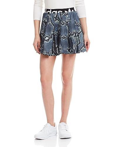 adidas LA Print Skirt - Falda para Mujer, Color Gris/Negro/Blanco ...