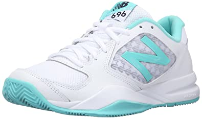 Nouvelle Chaussure De Tennis Équilibre 696v2 Des Femmes, Sarcelle / Blanc, 7,5 B Nous