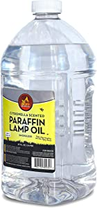 Citronella Scented Lamp Oil, 2 Liter - Smokeless and Odorless Insect and Mosquito Repellent Paraffin Lamp Oil for Indoor and Outdoor Lanterns, Torches, Oil Candle - by Ner Mitzvah