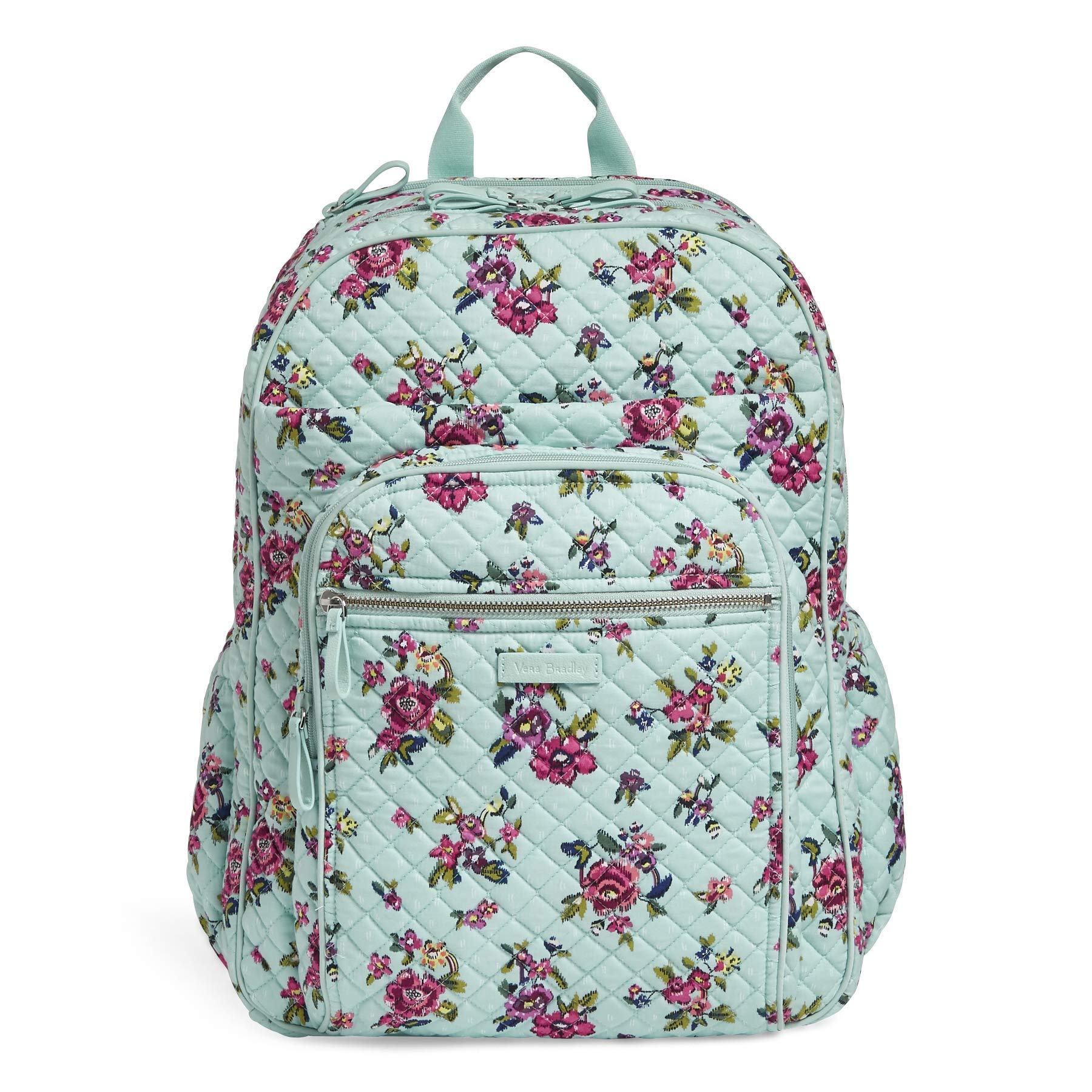 Vera Bradley Iconic XL Campus Backpack, Signature Cotton, Water Bouquet
