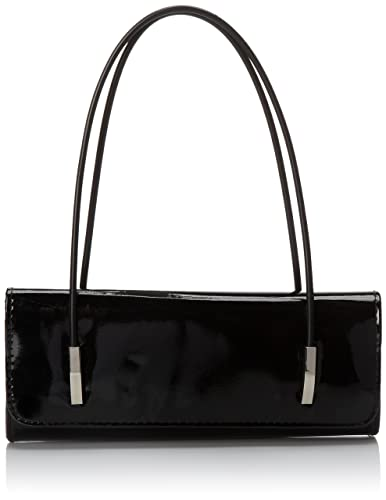 BMC Womens Synthetic Patent Leather Evening Clutch w/ Black Cord ...