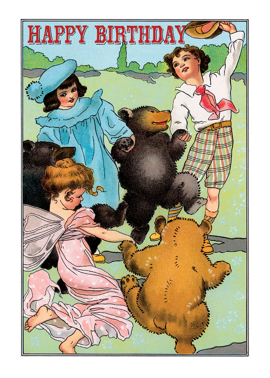 Children Dancing with Bears and a Fairy. 6 cards, individually bagged with envelopes (Greeting Card-Birthday) pdf