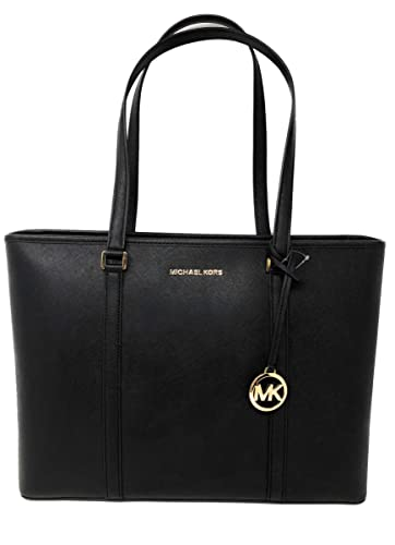 5008f849db2176 Amazon.com: Michael Kors Large Sady Carryall Shoulder Bag (Black): Shoes