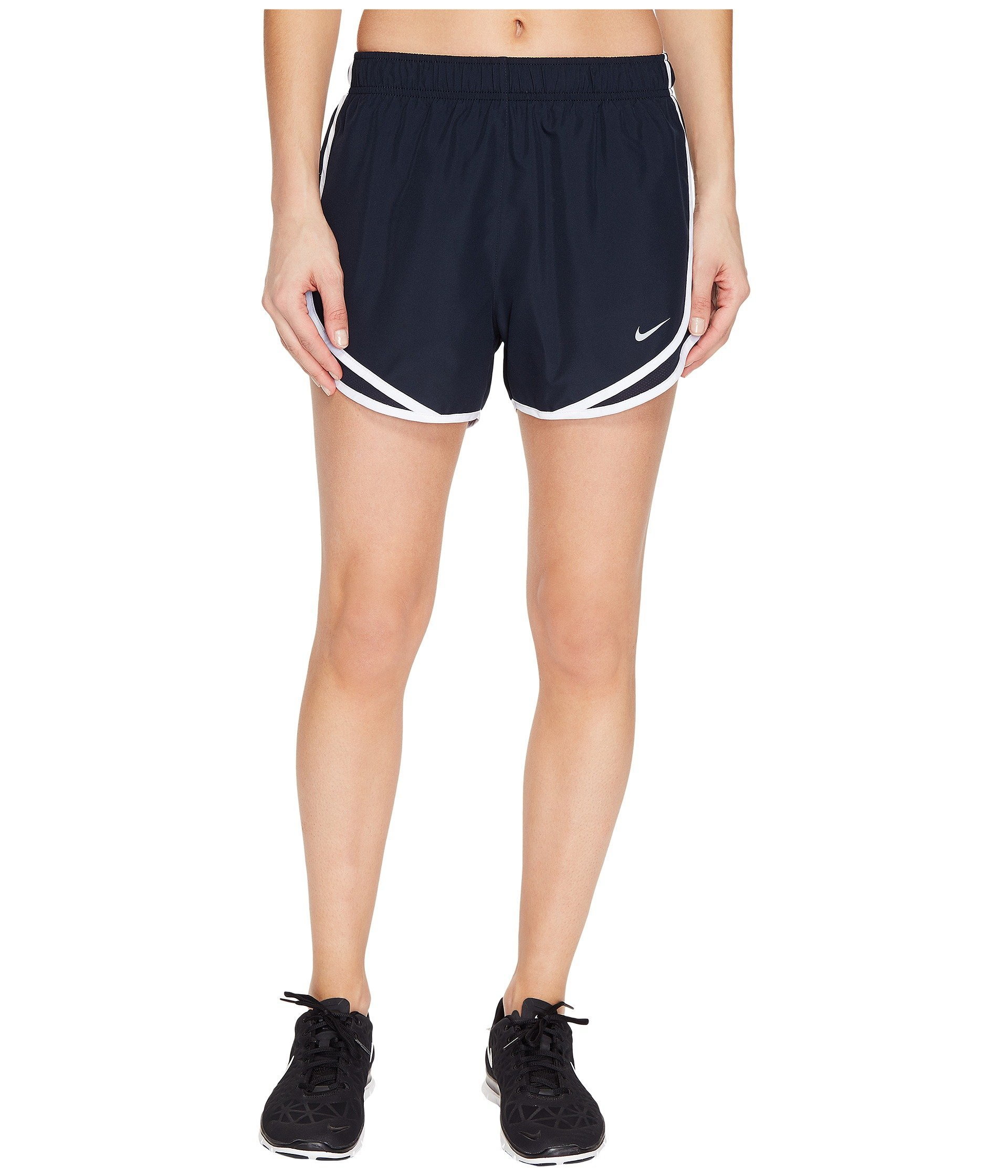 Nike Women's Dry Tempo Running Short Dark Obsidian/Wolf Grey Size Medium by Nike