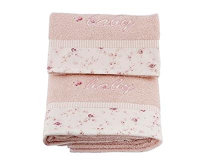 Laura Ashley - Juego de toallas para baño, diseño de rosas