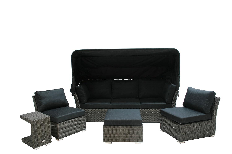 Ploß Polyrattan-Loungeset Rocking - XL-Sitzgruppe-Set 5-teilig in ...