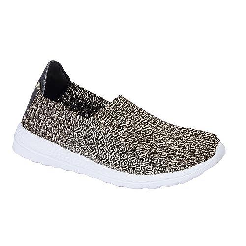 78203654f087b Dek Womens/Ladies Superlight Elasticated Interlaced Summer Casual Shoes