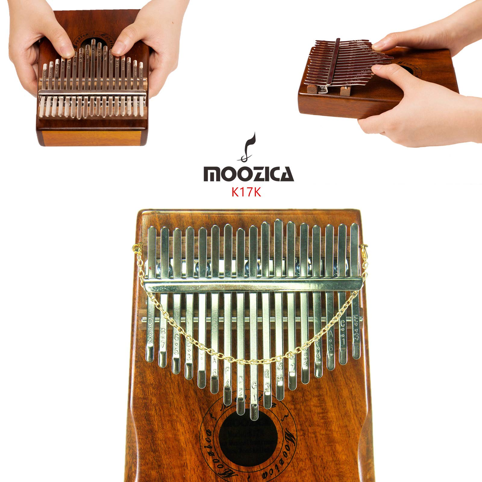Moozica 17 Keys Kalimba Marimba, Professional Thumb Piano Sanza Mbira Musical Instrument Gift (Koa - K17K) by Moozica (Image #2)