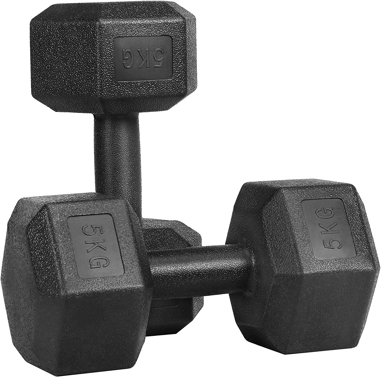 Queiting 2PCS 500G Hanteln Vinylgummi Gymnastik Fitness Gummigewichte Fitness Hanteln Aerobic Hanteln Sind Perfekt F/ür Gummihanteln Im Fitnessstudio