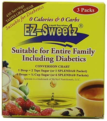 0.5 oz – Liquid Sweetener 450 Servings Bottle 3 Bottles Pack 1 Pack