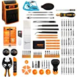 Jakemy Screwdriver Set, 99 in 1 with 50 Magnetic Precision Driver Bits, Repair Tool kit with Pocket Tool Bag for iPhone…