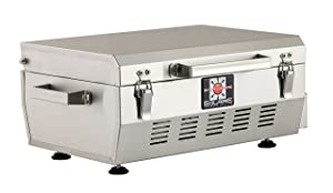 Solaire SOL-EV17A Everywhere Portable Infrared Propane Gas Grill, Stainless Steel