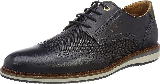 TALLA 44 EU. Pantofola d'Oro Rubicon Uomo Low, Zapatos de Cordones Brogue para Hombre