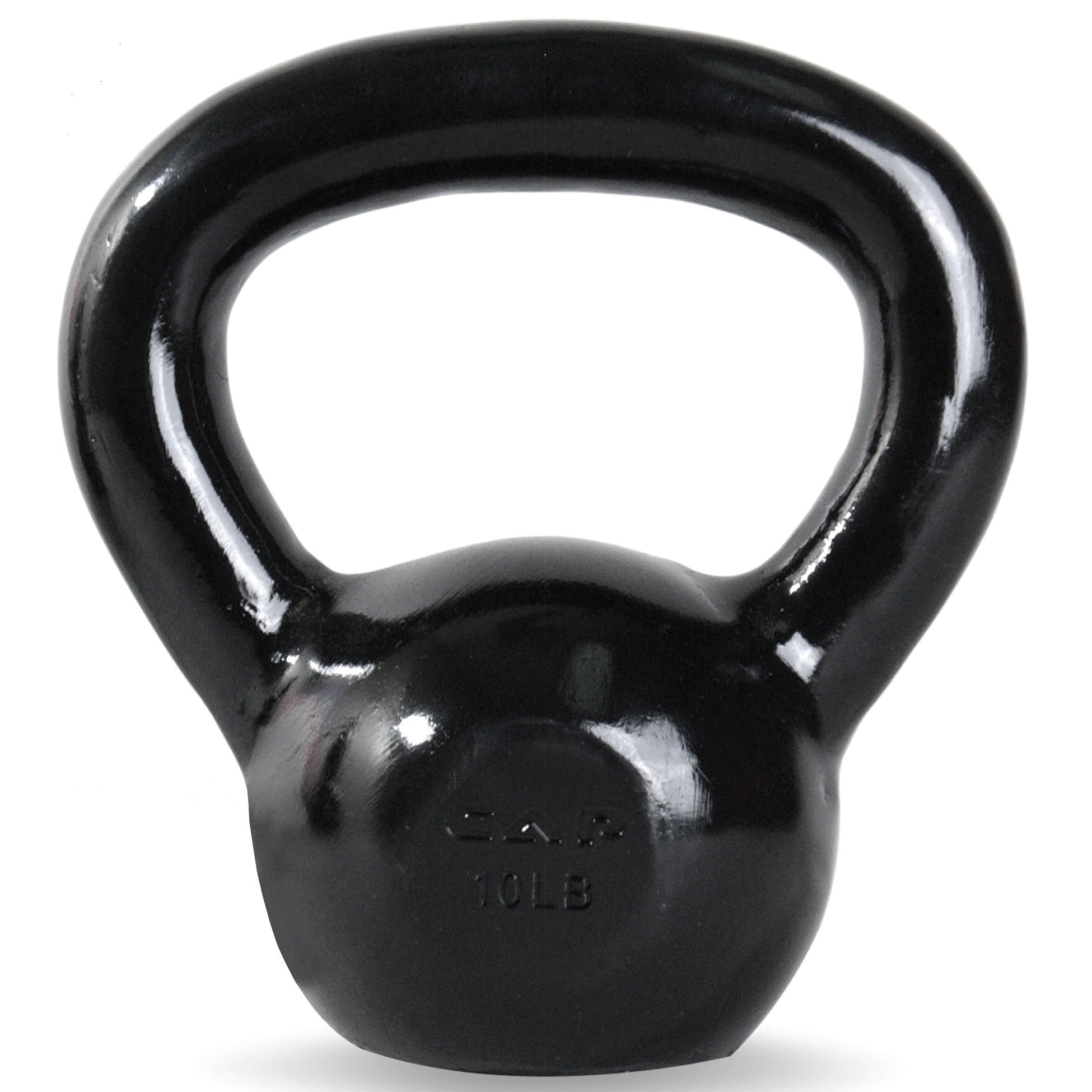 CAP Barbell SDK2-010 Enamel Coated Cast Iron Kettlebell, 10 lb, Black