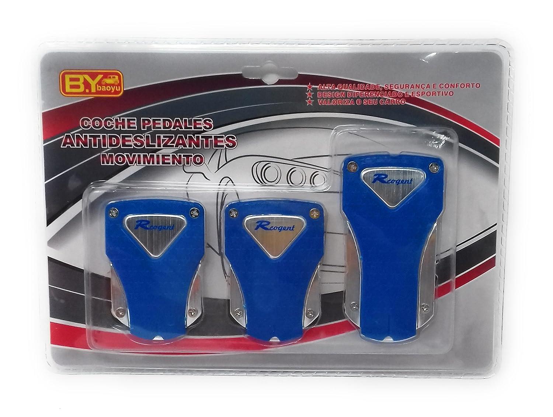 Pedales Coche Universales Kit Embrague Freno Acelerador, Muy Finos, Ligeros Azul: Amazon.es: Coche y moto