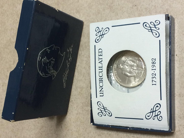 1982-D US George Washington Commemorative BU Silver Half Dollar