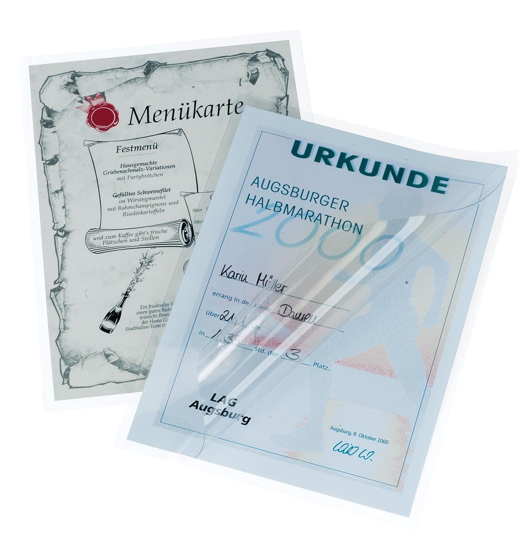 HAMA Fogli per Laminatrice A4 80 mg Trasparente Kit 100 Pezzi