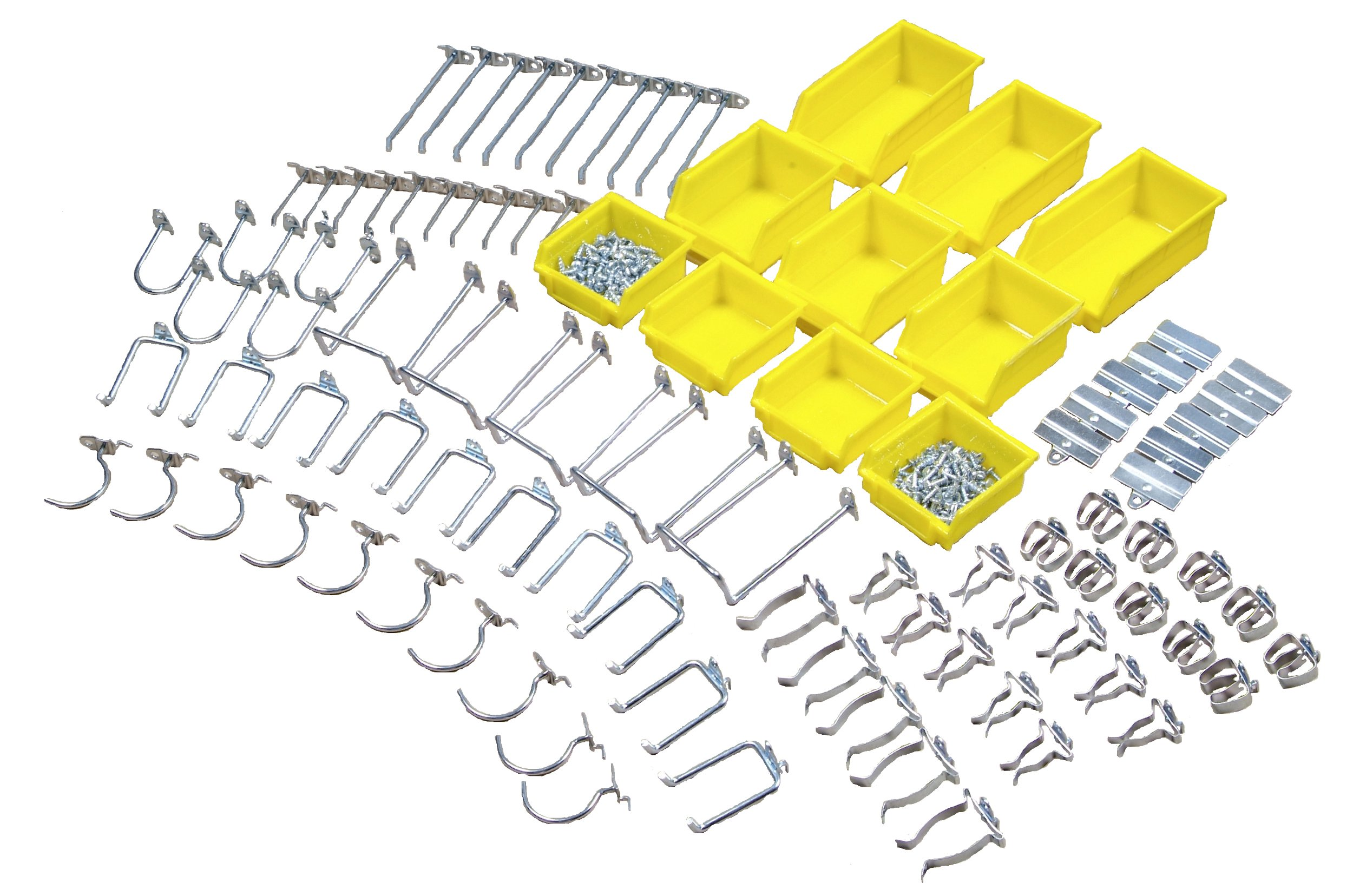 Triton Products 76995 DuraHook Zinc Plated Steel Hook and Bin Assortment for DuraBoard 85 Assort Hooks and 10 Assort Bins, 95-Piece by Triton 2