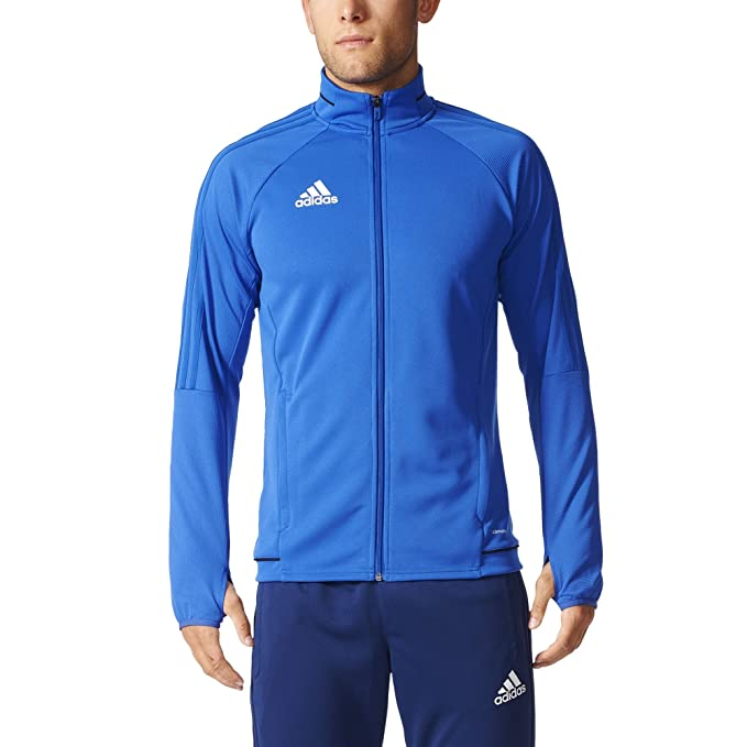 f077a89cf8a Adidas Tiro 17 Mens Soccer Training Jacket S Bold Blue-Black-White