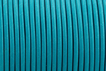2 CORE 0,75 mm Blaugrün – Antik geflochten rund gewebte Seide Stoff ...