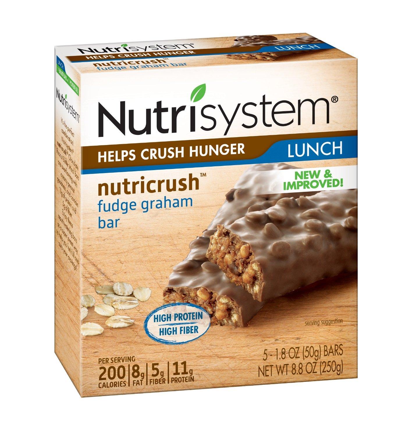 Nutrisystem NutriCRUSH Fudge Graham Bars, 30 ct