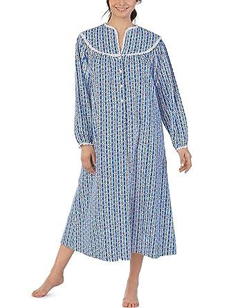Lanz of Salzburg Women s Long Sleeve Tyrolean Flannel Gown 14a2dd43e