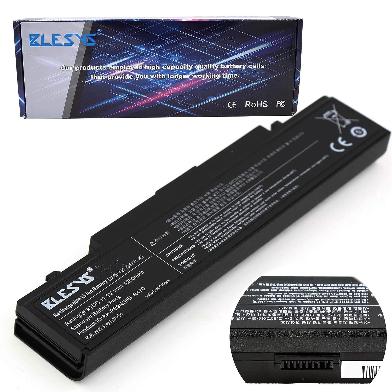 BLESYS 9-Células Batería para portátil Compatible con Samsung AA-PB9NC6B AA-PB9NS6B AA-PB9NC6W AA-PB9NC5B AA-PL9NC2B AA-PL9NC6W AA-PB9NC6W/E R505 R540 R720 ...