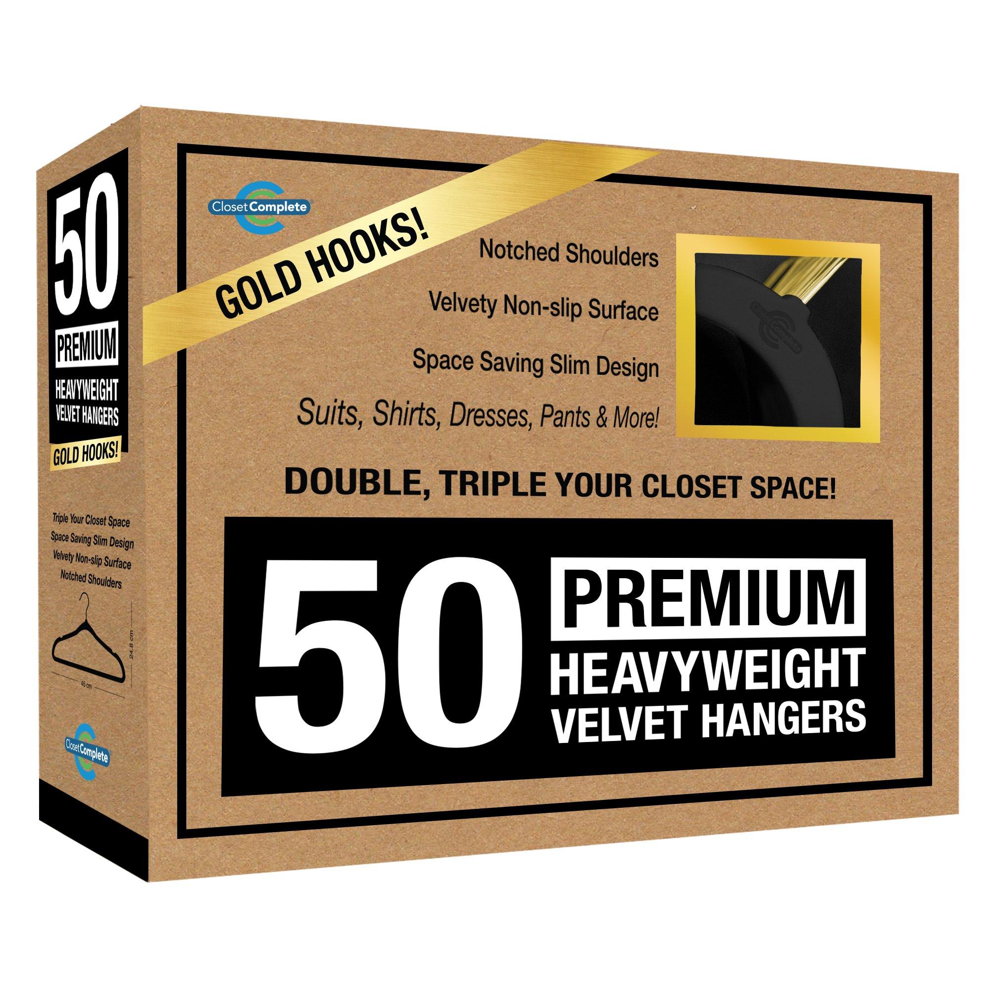 Closet Complete 71740 Velvet Suit Hangers, 50, Black by Closet Complete