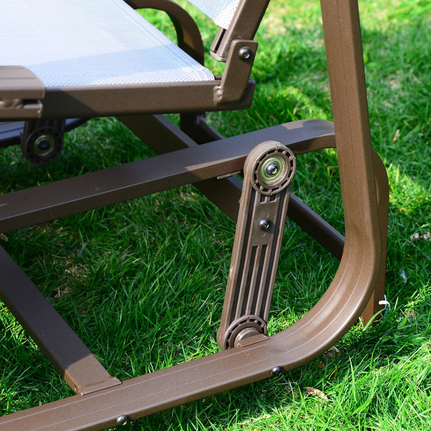 Beautiful Amazon.com : Outsunny Outdoor Mesh Fabric Patio Glider Chair   Brown And  Beige : Patio, Lawn U0026 Garden