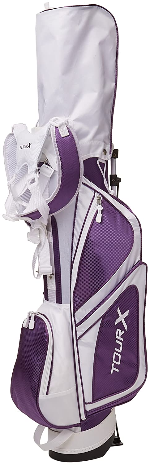 Merchants of Golf Tour X Purple 5-Piece Junior Golf Complete Set with Stand Bag, Right Hand, 12+ Age, Graphite, Regular B00CKAP6ZM