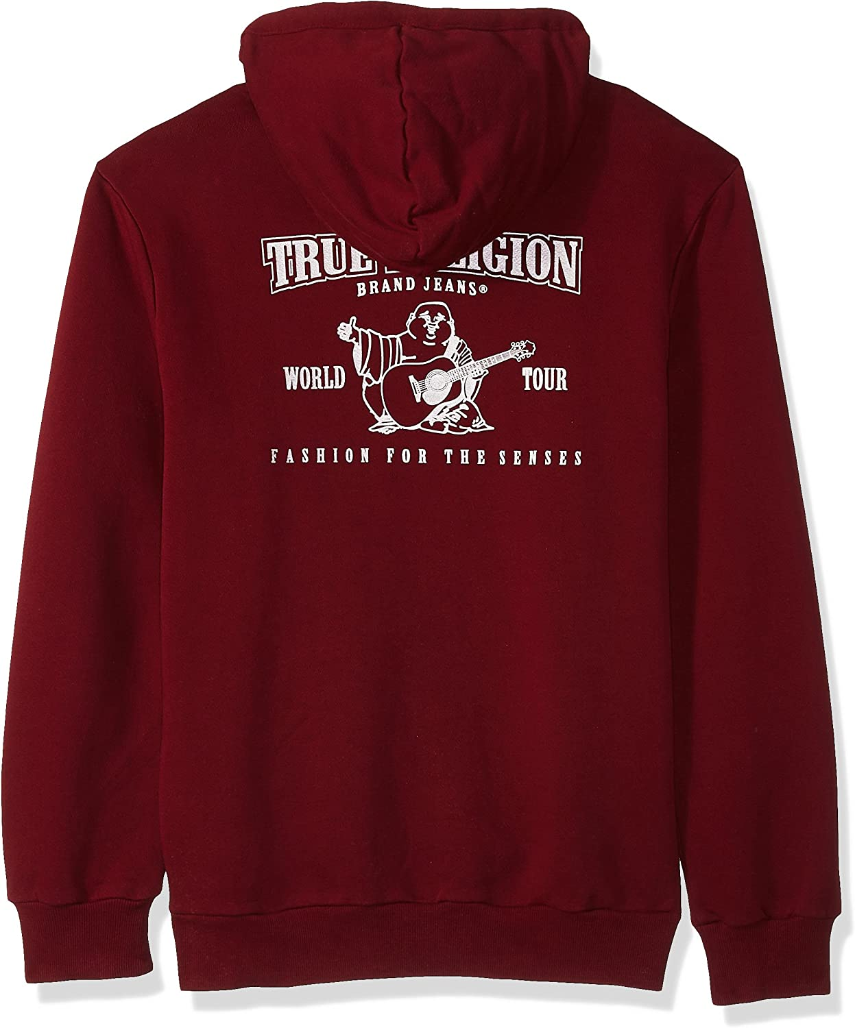 True Religion Men's Metallic Puff Buddha Zip Up Hoodie Hooded Sweatshirt