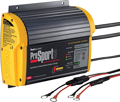 Waterproof Dual-Bank 8-Amp Marine Boat On-Board Battery Charger [ProMariner] Picture