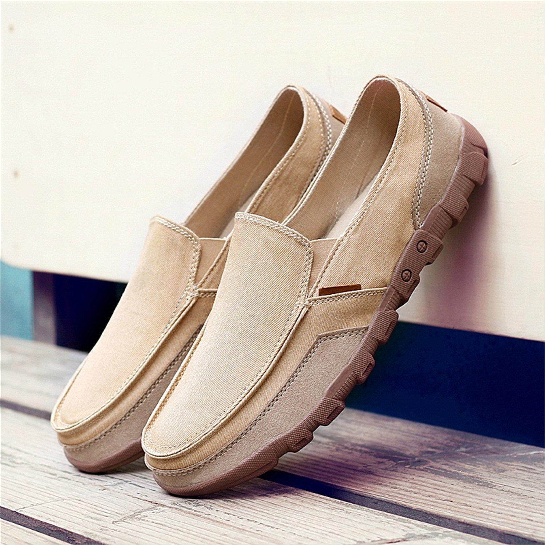Herren Slipper Männer Leinwand Schuhe Herrenmode Solide Bequeme  Freizeitschuhe Männer Lace-up Licht Sommer Loafers Schuhe Plus Größe  Amazon .de  Schuhe   ... 0894cc521a