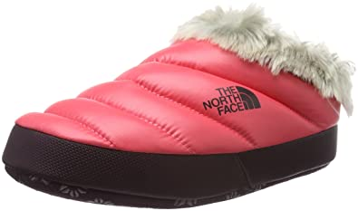 4cb74adf9 THE NORTH FACE Women's W NSE Tent Mule Faux Fur Ii Clogs, Shiny Deep Garnet  Red, Small