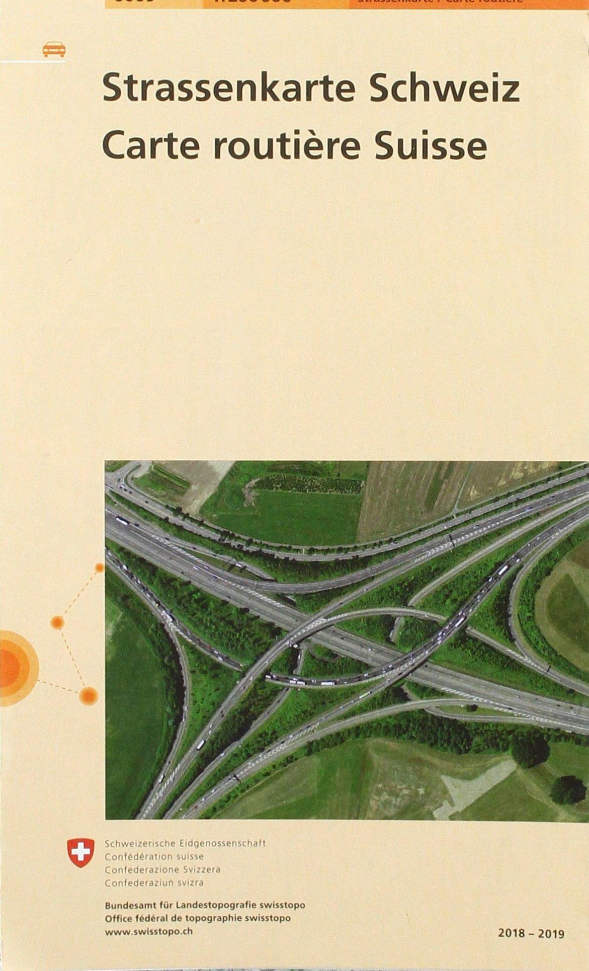 6009 Strassenkarte Schweiz 1:200 000 Carte routière Suisse