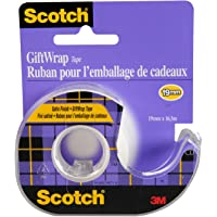 Scotch Tape Gift Wrap Tape, 19mm Wide x 16.5m, 1 Roll in Dispenser