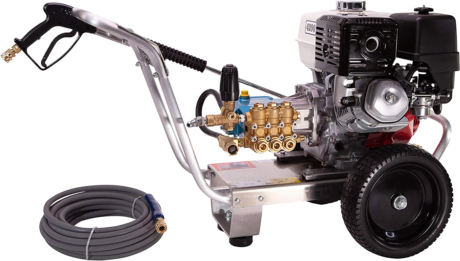 Pressure Pro E4040HC Heavy Duty Professional 4,000 PSI 4.0 GPM Honda Gas Powered Pressure Washer With CAT Pump