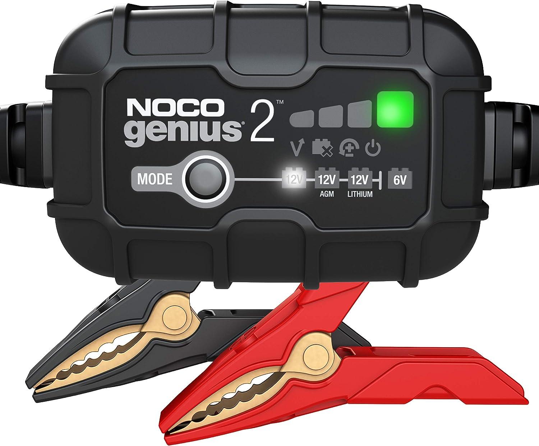 NOCO GENIUS2EU Cargador 2 amperios, mantenedor desulfador de batería, Blanco, 330x310x490 mm