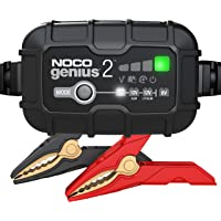 NOCO GENIUS2AU, 2-Amp Fully-Automatic Smart Charger, 6V and 12V Battery Charger, Battery Maintainer, and Battery…
