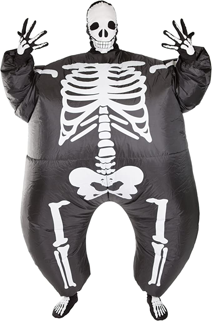 Halloween Kostuem Skelett Amazon.Bodysocks Aufblasbares Skelett Kostum Fur Erwachsene Amazon De Bekleidung