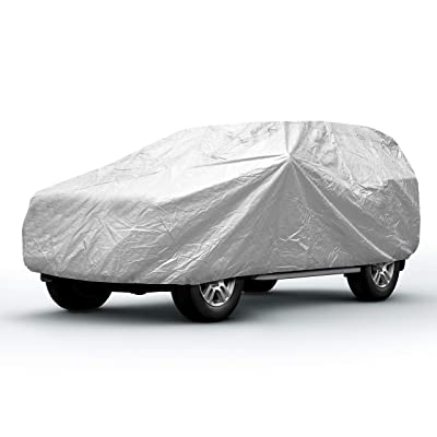 Sojoy Thick Multi-Layered Car Cover w/Anti-Hail Damage for Sedan, Coupe, SUV, Hatchback in All-Weather(Hail/Rain/Snow/Heat) Waterproof/Dustproof/Scratchproof UV Protection Full Cover (XXL): Automotive