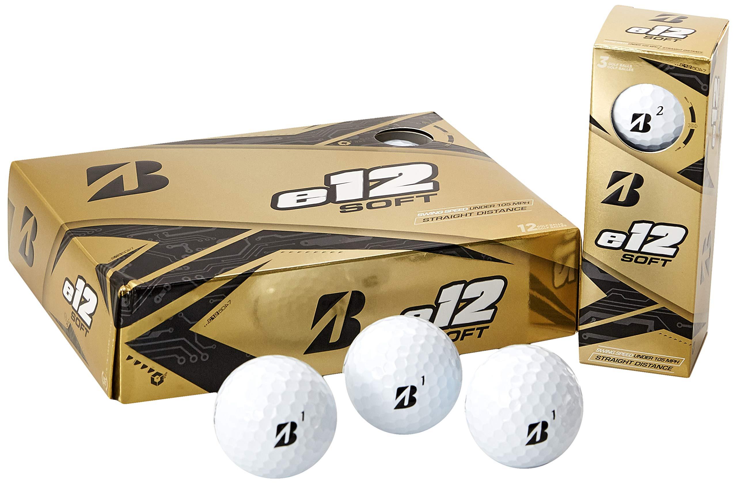 Bridgestone Golf e12 Soft Golf Balls, White (One Dozen) by Bridgestone Golf