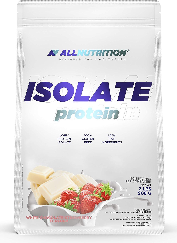 ALLNUTRITION aísla 908g paquete de 1 proteína de suero aislado proteína de suero proteína muscular en polvo (White Chocolate Raspberry)