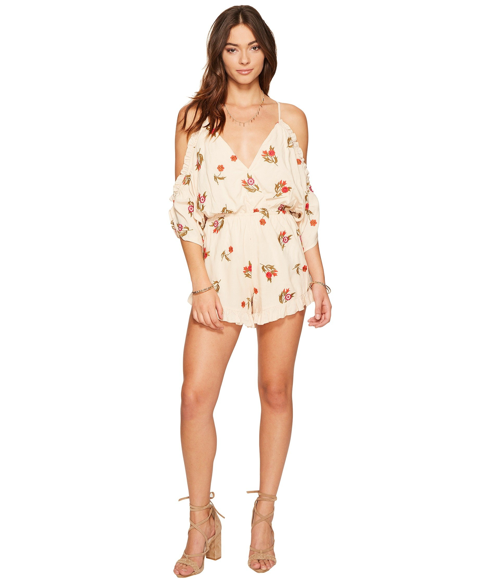 Lovers + Friends Malia Off The Shoulder Romper - Size Small