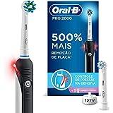 Escova Elétrica Recarregável Oral-B Pro 2000 Sensi Ultrafino 127V + Refil Sensi Ultrafino, Oral-B